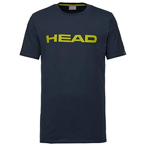 HEAD Club Ivan, T-Shirt Unisex Bambini, Dark Blu/Giallo, XS