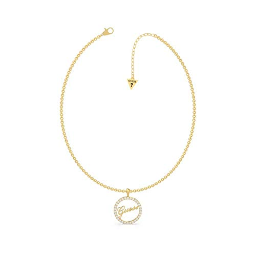 Choker Guess All Around You Ubn20125 Stainless Steel Gold Plated Swarovski Crystal Ring Logo