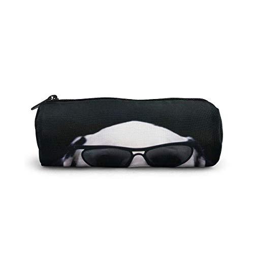 AOOEDM Federmäppchen/Kosmetiktasche, Hund mit Brille Leinwand Briefpapier Stilvolle einfache Bleistifttasche