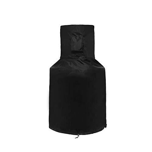 SIRUITON Terrassenofen Abdeckung, Atmungsaktiv Sonnencreme Wasserdicht Schutzhülle für Garten Terrassenofen-36 Monate Garantie (123x 63x 22cm)
