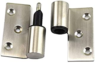 Hardware Parts Kitchen Recessed Cabinet Door Hinge Toilet Automatic Closing Stainless Steel Separation Hinge Public Toilet...