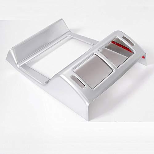 SLONGK Für Jaguar F-Pace f Schritt X761, ABS Chrom Rücksitz Klimaanlage Steckdose Rahmenabdeckung Autozubehör Styling