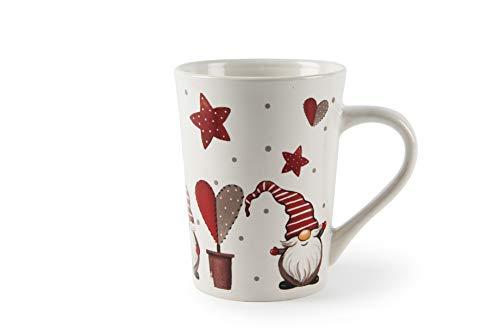 Excelsa Gnomo Christmas - Taza de cerámica, diseño de Stoneware