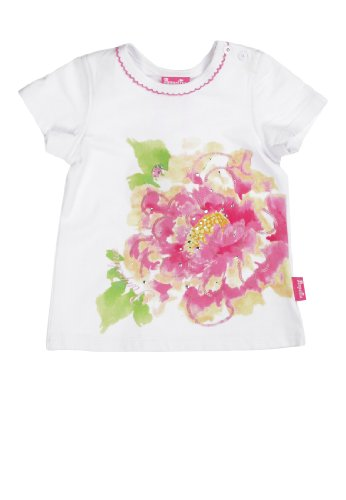 Pampolina - T-Shirt 1/4 Arm 6483231 - T-Shirt Bébé fille - Blanc (bright white 1000) - FR : 4 ans (Taille fabricant : 104)