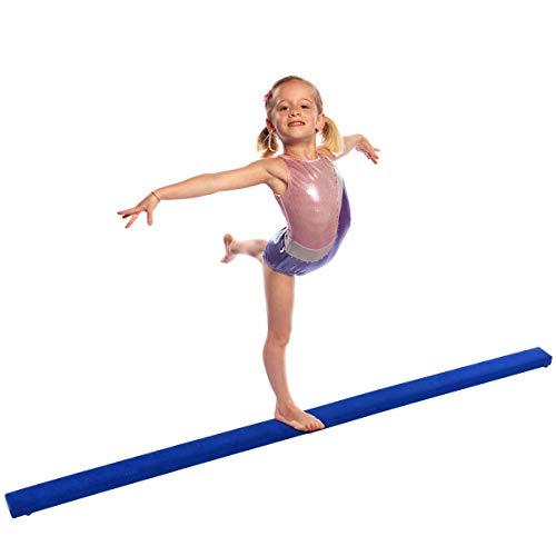 simplyUSAhello 8' Gymnastics Performance Training Folding Floor Balance Beam (Blue)
