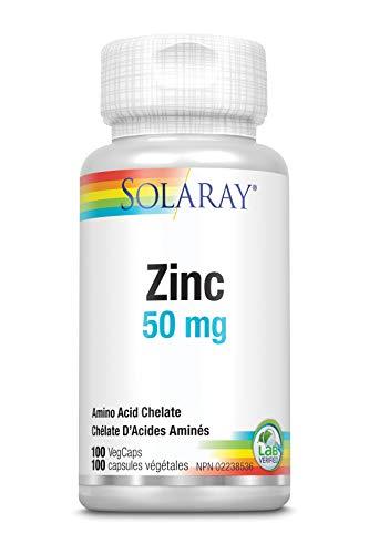 Solaray Zinc 50mg   100 VegCaps