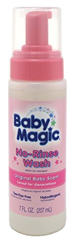 Baby Magic No-Rinse Wash 7 Ounce Original Baby Scent (207ml) (2 Pack)