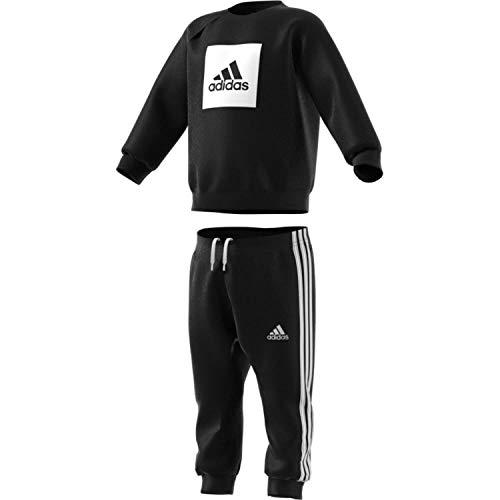 adidas Kinder Sportanzug-FR5305 Sportanzug, Black/White, 104