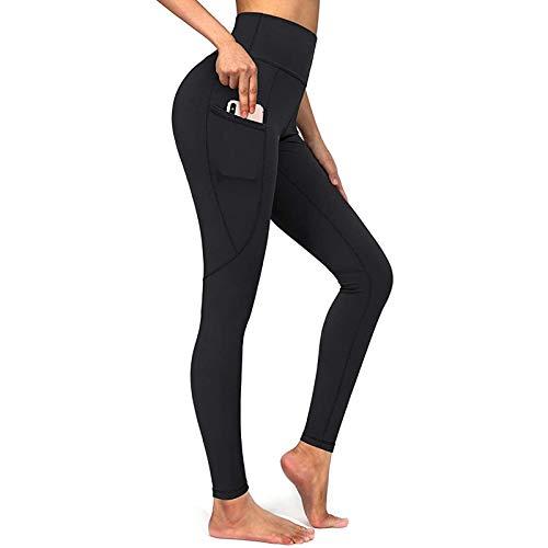 lbert Sport Leggings Damen Sporthose High Waist mit Tasche Fitnesshose Blickdicht Shape Gym Leggings Yogahose Lang Figurformende Wanderleggings Anti Cellulite Compression Bauchweg Leggings