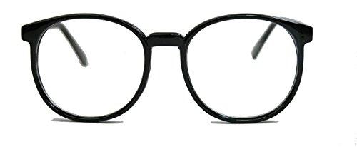 amashades Vintage Nerdies Classic Nerdbrille große runde Pantobrille Streberbrille schwarz clear lens Damen Herren