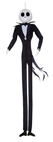 Disney The Nightmare Before Christmas Jack Skellington Full Size Poseable Hanging Character Decoration, Multi