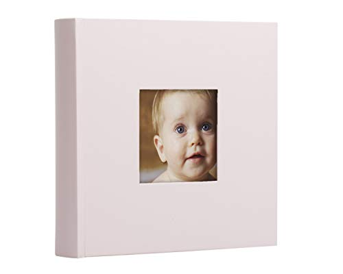 Pearhead Baby Photo Album, Baby Shower Gift, Light Pink