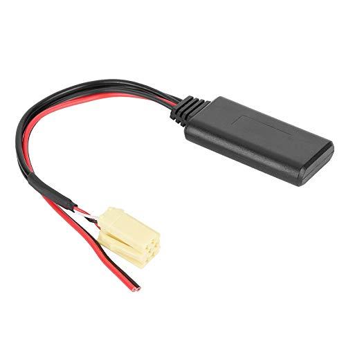Adaptador Bluetooth para coche, cable de audio auxiliar de repuesto duradero, adaptador de línea de cable apto para Al-fa Romeo 159 2007- / Fi-at Grande Punto 2007