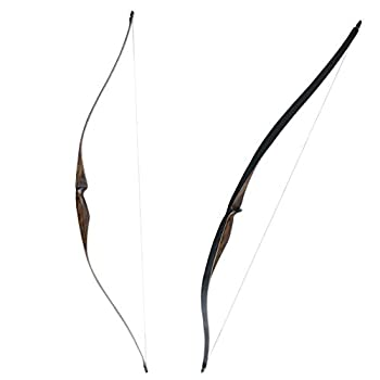 SinoArt Sparrow 54  Traditional Long Bow 20-35LBs Draw Weight One-Piece Longbows Recurve Bow Right Hands for Beginner Women Tenns  Right Hand 25 LBs