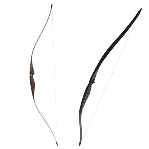SinoArt Sparrow 54' Traditional Long Bow 20-35LBs Draw Weight One-Piece Longbow Recurve BowRight Hands for Beginner Women Tenns (Right Hand 35 LBs)