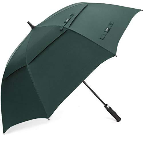 G4Free 54/62/68 Pulgadas Paraguas de Golf Abierto Automático Extra Grande de Gran Tamaño Doble Toldo Venteado Impermeable A Prueba de Viento Palo Paraguas