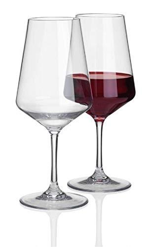 Siehe Beschreibung Savoy 2 Stück 570ml Rotwein Glas Deluxe 100% Polycarbonat in Echtglasoptik - Camping Glöser Rotweinglas Wasserglas Kunststof