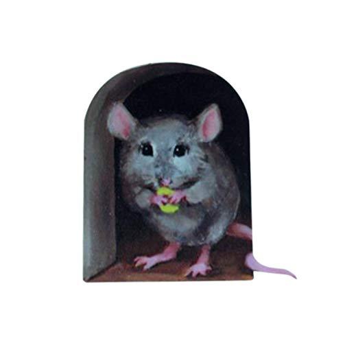 Gaoqi Calcomanía de Agujero de ratón en Miniatura Mural Pegatina única decoración Interior y Exterior, decoración del hogar Pascua y Eid Onsale