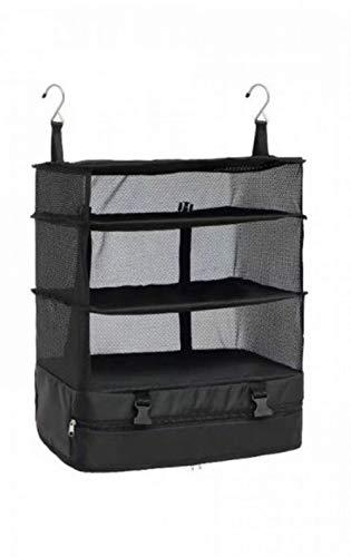 Sistema de Equipaje portátil, Organizador de Maletas, Bolsa de Viaje de Tres Niveles Sistema de Embalaje Duradero Perchero de Cubos Acabado Estantes Organizador