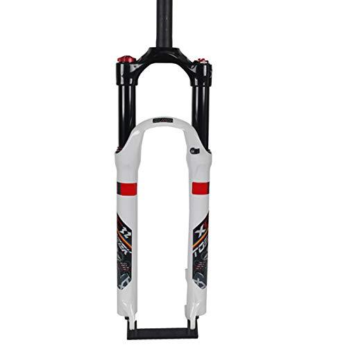 Horquilla de suspensión para Bicicleta 26/27.5/29 Pulgadas Horquillas Rígidas para Bicicleta MTB Ligero Compacto Downhill Tenedor para Bicicleta Carrera 120 MM B,29 Inches