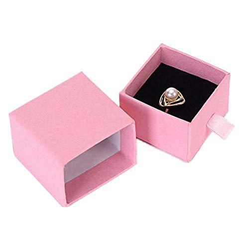 Caja de Regalo Pulsera cajitas Regalo Organizador de la joyería La Caja de visualización Rosa Caja de Anillo De Caja de Pulsera Joyas Caja de Ring Box