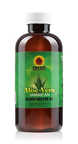 Tropic Isle Living Jamaican Black Castor Oil with Aloe Vera, 4 oz by Tropic Isle Living