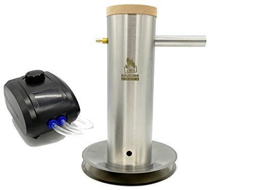 Räucher-König RK30 - Generador de humo frío (acero inoxidable, tamaño L – Generador de humo frío ahumador barbacoa