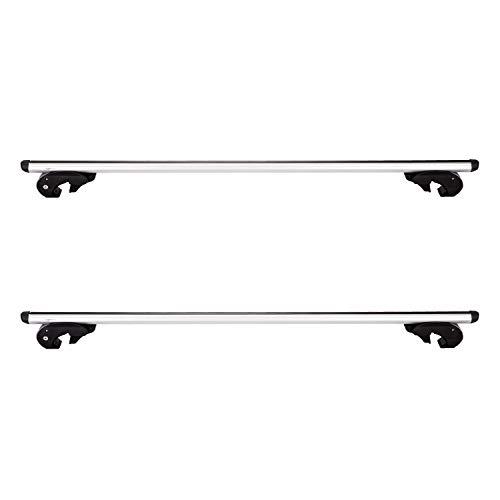 Amazon Basics 2-Piece Heavy-Duty Universal Cross Rail Roof Rack, 56 inches