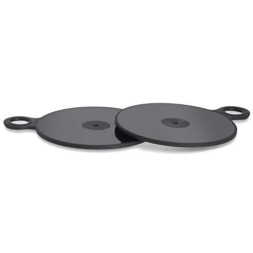 Wicked Chili 2x Piastra adesiva 3M da 75mm per cruscotto compatibile con Garmin, TomTom e dispositivi di navigazione (GO, Start, Via, Camper, Drive) supporto di navigazione con pad adesivo autoadesivo