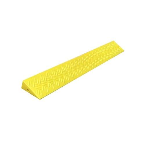 LXLH Schwellenrampen, gelbes Dreieckspad, Home Kunststoff-Bordsteinrampen Roller-Rollstuhl-Sicherheitsrampen rutschfeste tragbare Schwellenrampen 3,5 cm / 4 cm