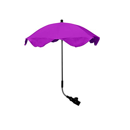 Sombrilla paraguas toldo triple ajuste totalmente universal para cochecito de bebé y cochecito morado ciruela