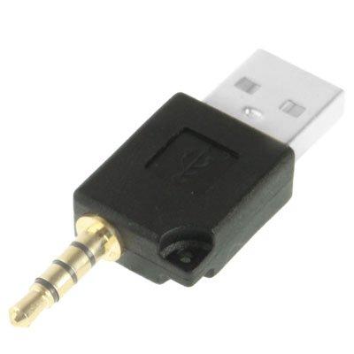Adaptador de muelle del cargador de datos USB, for el iPod shuffle de 3ª / segundo, longitud: 4,6 cm Nueva (Magenta) Catforest (Color : Black)