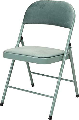 made2trade Hochwertige Bequeme Klappstühle aus Metall - Sitzhöhe 45cm - Grün