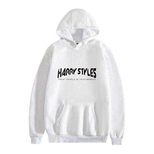 AOSHE Harry Styles Treat People with Kindness Sudadera con Capucha Casual de Manga Larga Otoño Invierno Sudadera con Capucha Lisa con Capucha