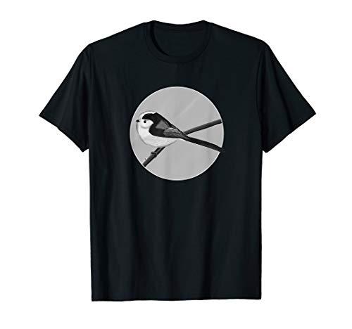 jz.birds Schwanzmeise Vogel Tier Design Schwarz&Weiß T-Shirt