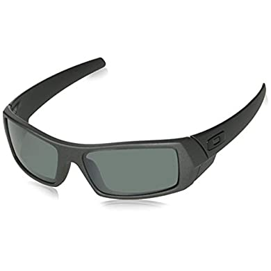 4529cecb8 Amazon.com: Oakley Men's Gascan Iridium Polarized Rectangular Sunglasses,  Woodgrain /Tungsten, 60mm: Clothing