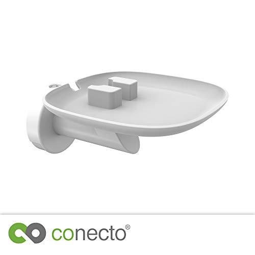 conecto CC50592 Premium Wandhalterung für Lautsprecher SONOS ONE + SONOS Play:1 mit Kabelmanagement, Traglast: max. 3,0kg, weiß