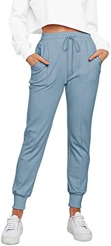 NIMIN Joggers for Women Drawstring Yoga Pants Active Sweatpants Workout Clothes Comfy Lounge Pajamas Pants with Pockets