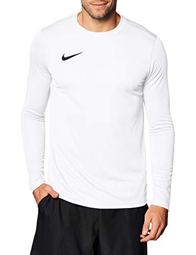 NIKE M NK Dry Park VII JSY LS Camiseta de Manga Larga, Hombre, White/Black