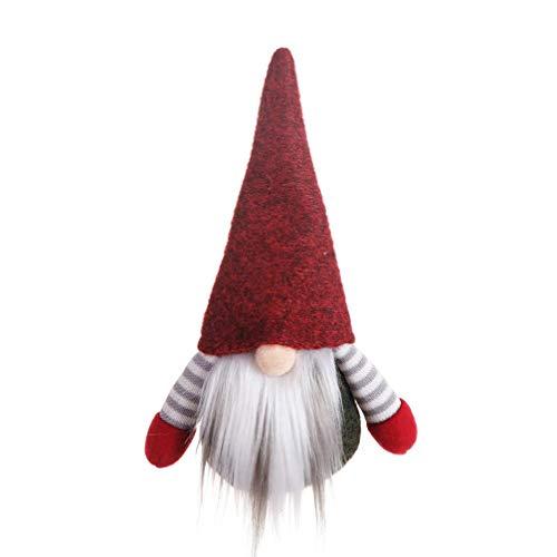 Amosfun gnomo de Navidad Juguete árbol de Navidad muñeca Colgante árbol de Navidad Colgante Colgante Adorno