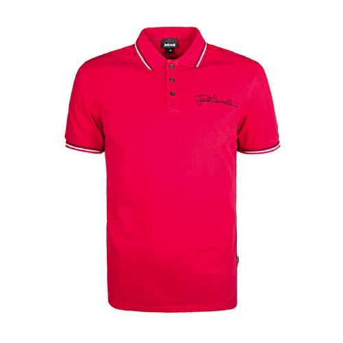 Just Cavalli S01GL0003 Polo Maniche Corte Uomo Rosso 307 L