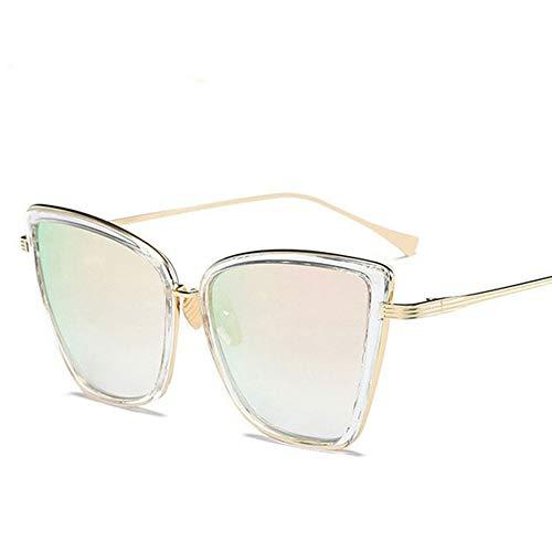WPHH Gafas De Sol Polarizadas Conducción Mujer Vintage Metal Moda Gafas Hombres Y Mujeres Gafas De Sol HD Antideslumbrantes UV400,Rosado