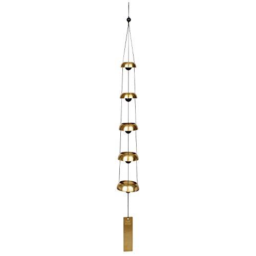 Woodstock Windspiel Temple Bells, Rot, 81,3 cm