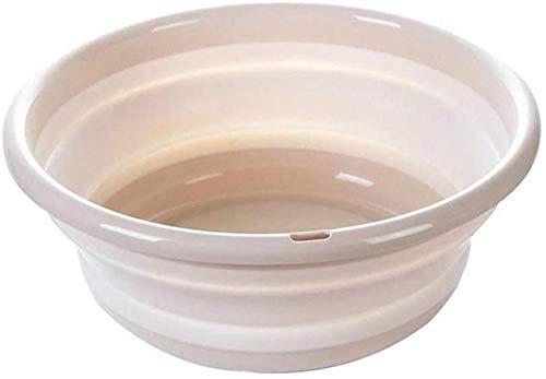 YAYY Opvouwbare wastafel inklapbaar Draagbare Opvouwbare Wastafel TPR Stretch Materiaal Kinderen Antislip Up Bowl Basin voor Reizen Camping Wandelen Caravan (Beige L)(Upgrade)