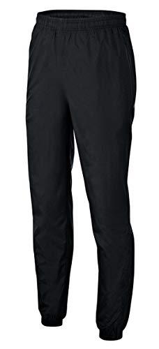PHINOMEN Schwarze Regenhose für Kinder - wasserdichte Sporthose mit perfektem Windschutz Größe 116