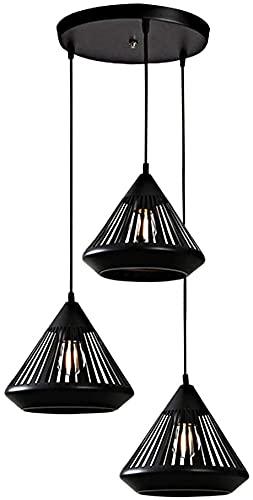 CYLYFFSFC Lámpara de comedor E27 conjunto de tiras de placa redonda de tres cabezas, moderno, simple, hueco,...