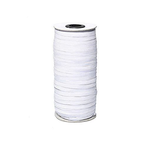 Deirdre Agnes Witte elastische band naaien rubberen elastische touw touw kleding naaien accessoires elastische band 30 meter (27M)