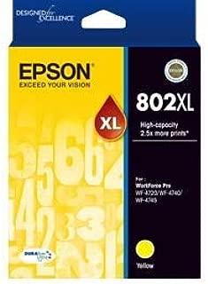 Epson 802Xl Yellow Ink Durabrite - Wf-4720, Wf-4740; WF-4745
