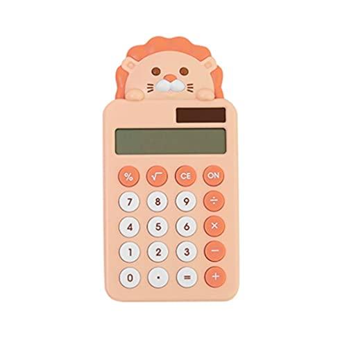 Calculadoras Básicas Calculadora De León Lindo Calculadora De Escritorio Portátil Batería Solar Básica Calculadora Electrónica De Potencia Dual Calculadoras (Color : Orange)