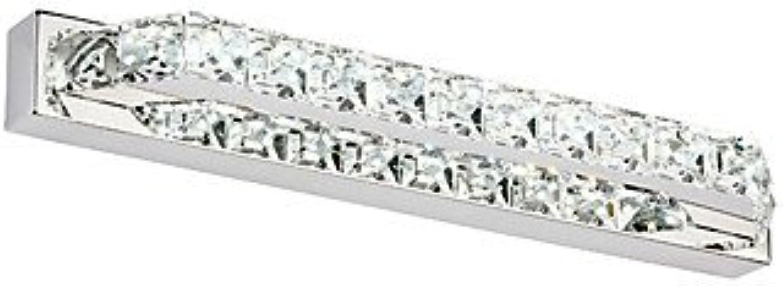 XY&XH Wandleuchte,10w Kristall Bad LED-Beleuchtung, moderne zeitgemsse führte integrierten Metall, cool Weiß-90-240v